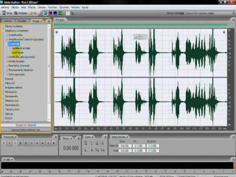 Como limpiar el sonido con adobe audition 3.0