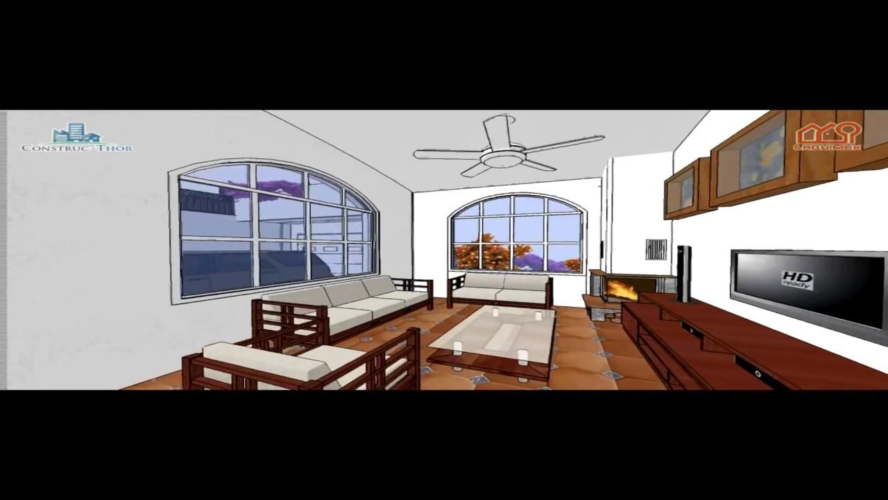 Planos de casas modelo san antonio 21 casa solar de 1 for Casas modernas recorrido virtual