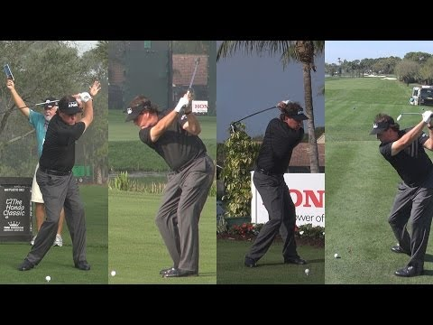 PHIL MICKELSON - 2014 HONDA CLASSIC PRO AM GOLF SWING FOOTAGE - REG & SLOW MOTION 1080p HD