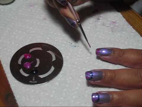 French Tip Marble Tutorial - OPI Ponce De Lilac + 3 OPIs - YouTube, More pics in this post at my blog: http://mysimplelittlepleasures.blogspot.com/2009/11/notd-opi-ponce-de-lilac-w-french-tip.html Base Color = OPI Ponce De Li...