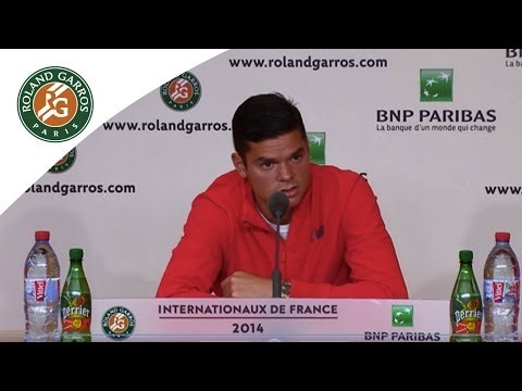 Press conference Milos Raonic 2014 French Open QF