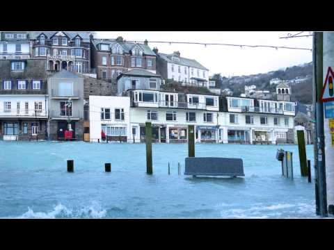 Flooding Looe 3rd February 2014
