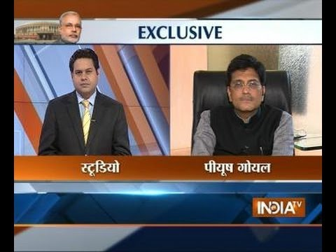 Narendra Modi's Cabinet Minister Piyush goyal speaks with India TV
