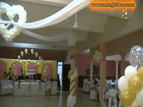 Decoración con globos para matrimonio civil - Imagui
