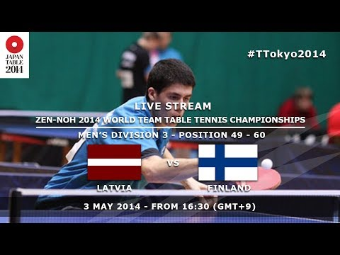 ZEN-NOH 2014 World Team Table Tennis Championships: Latvia - Finland