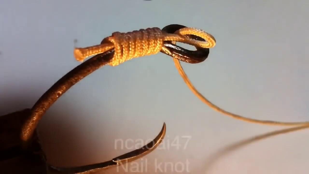 Fishing knot how to tie nail knot 74 bu c l i c u for Fishing knots youtube