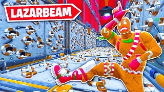 Playing The *LAZARBEAM* DEATHRUN in Fortnite...