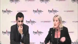 Marine Le Pen Un Journaliste Larbin Joue Le Kéké Et Se