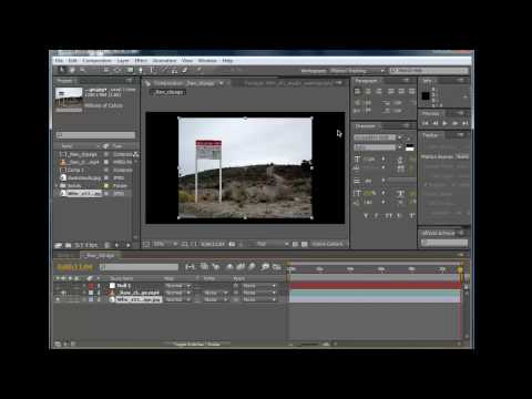 AEtuts101- Tutorial 1 Part 1: Day for night, Turning a photo into video and color correction.
