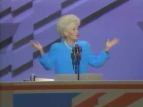 Gov. Ann Richards speaks at the 1988 Democratic Convention