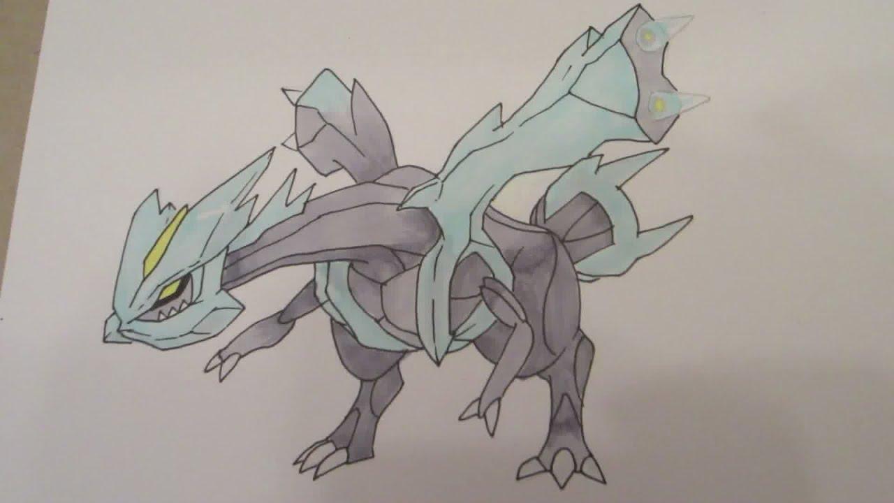 How to draw Pokemon: No.646 Kyurem キュレム - YouTube