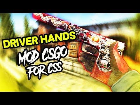 CS:GO MOD para Counter Strike Source | Driver Gloves CT v84-v90
