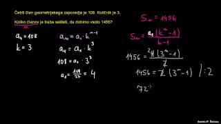 Končna geometrijska vrsta – naloga 1