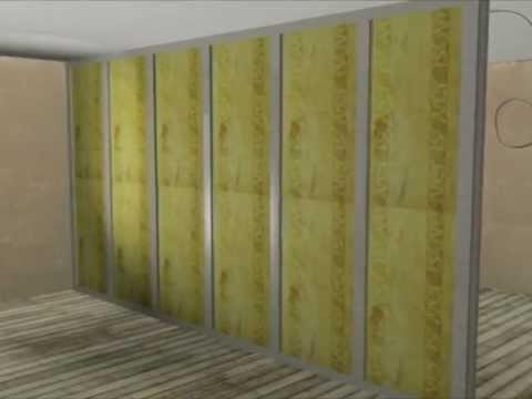 trockenbau trennwand stellen quelle youtube. Black Bedroom Furniture Sets. Home Design Ideas