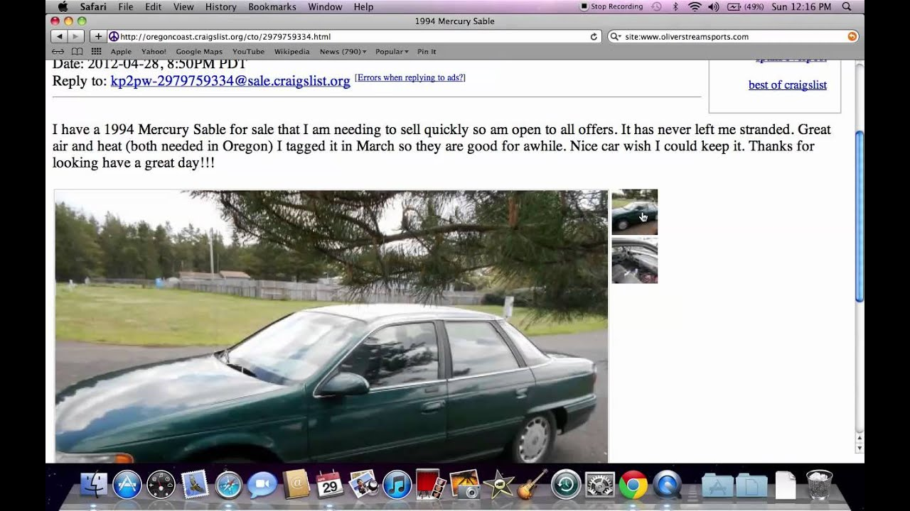 Craigslist oregon cars search results auto car info