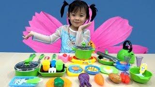 Cooking Kitchen Playset For Kids - Đồ Chơi Nấu Ăn Cho Bé - Bé Tập Nấu Ăn ❤ AnAn ToysReview TV ❤