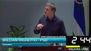 033 - Palavra livre 8, WILLIAN RIGHETTO (OUTUBRO, DIA 02 SESSÃO ORDINÁRIA 2017)