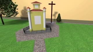Bazilika - plochy u kaplnky a sochy Sedembolestnej