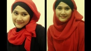Tutorial Hijab Modern Paris Drapery (2 In 1 Casual And