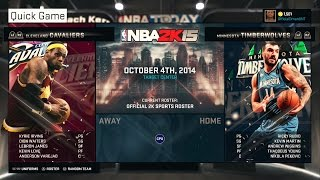 PS4 NBA 2K15 HD Gameplay!: Andrew Wiggins Vs. Lebron James