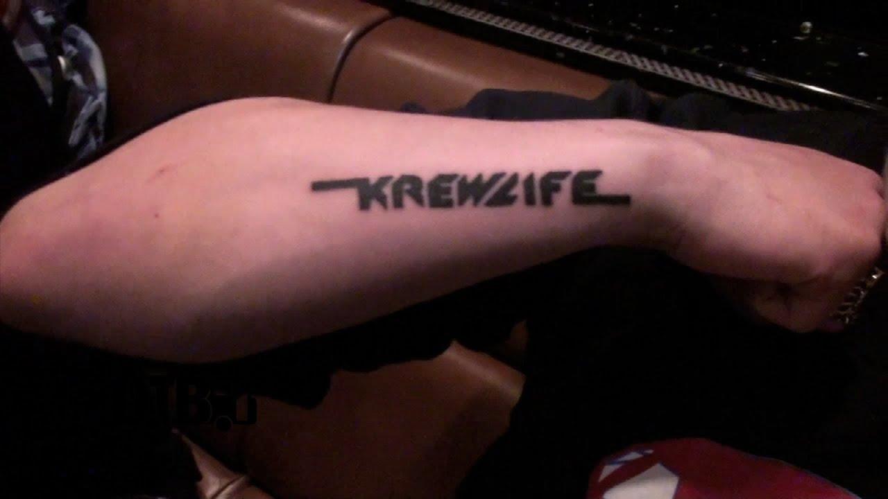 "Krewella Shows Off ""Krewlife"" Tour Tattoos - QUICK CLIP ..."