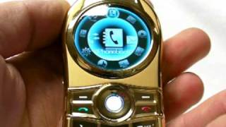 """LUXURY V9"" Metallic Body, ORBIT Ball Mobile Phone Dual 2"