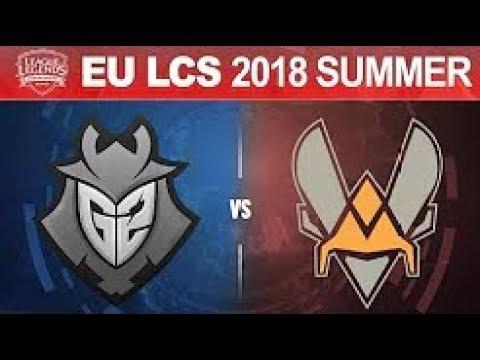 G2 vs VIT   EU LCS 2018 Summer Split Tiebreaker   G2 Esports vs Vitality