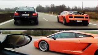Lamborghini Gallardo vs BMW M5 E60 videos
