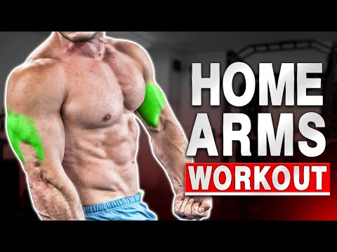 """THE BEST """"HOME BICEPS & TRICEPS WORKOUT"""" EVER! - BODYWEIGHT - (Follow Along)"""