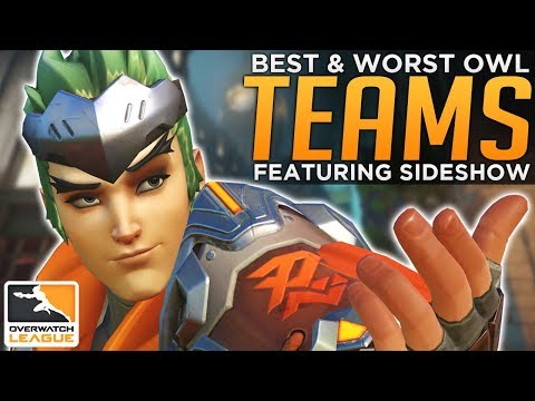 BEST and WORST Pro Overwatch League Teams ft. Sideshow