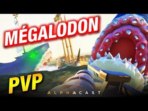 EPIC MEGALODON BATTLE ► 1 VS 3 GALIONS & MEGALODON - Hungering Deep