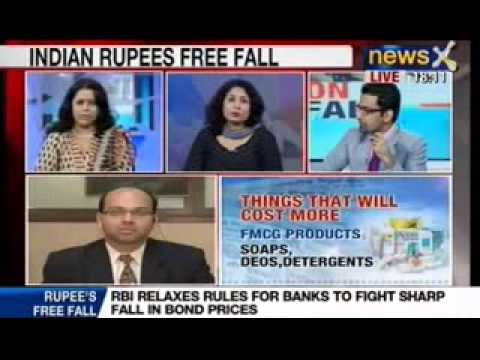 News X: Rupee falls past 65 to dollar to record a new low