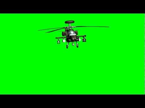 Free Helicopter On Green Screen Extreme !!