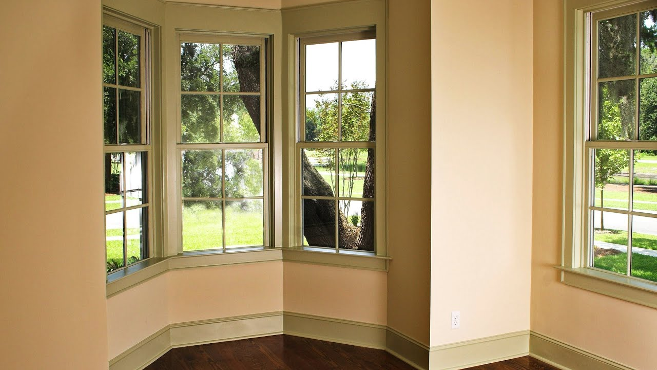 Window treatments for bay windows interior design youtube - Living room bay window treatments ...