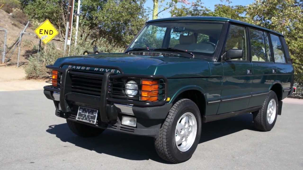One Owner Car Guy >> 1995 Range Rover County LWB Classic 2 Owner 77k Miles ...
