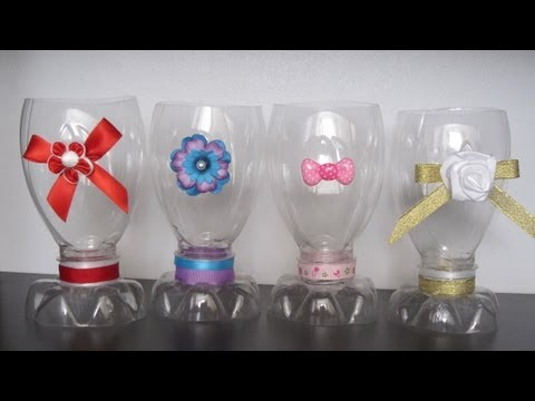 How to make a decorative cup with a recycled plastic bottle