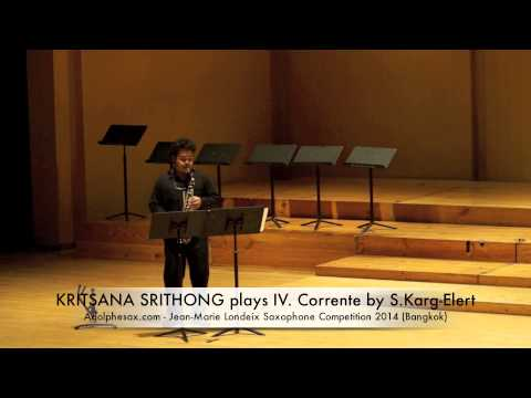 KRITSANA SRITHONG plays IV Corrente by S Karg Elert