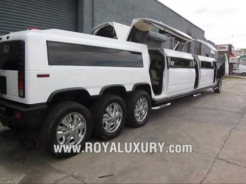 Triple Axle H2 Hummer JET DOOR limo limousine - www.ROYALUXURY.com, This was an H2 hummer we had back in 2008. Really cool limo with all the bells and whistles
