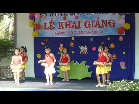 Lớp Lá múa Trống Cơm - mầm non Hoa Hồng Đỏ quận 9