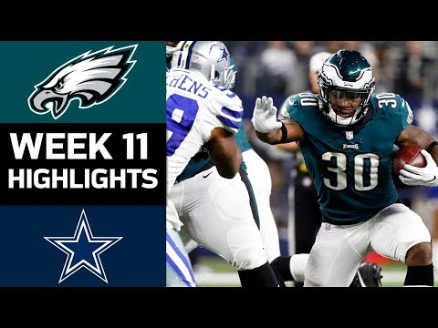 Eagles vs Cowboys  NFL Week 11 Game Highlights
