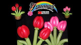 COMO HACER UNA CANASTA CON TULIPANES, BASKET WITH TULIPS