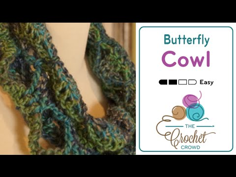 Youtube Crocheting Scarves : How To Crochet Butterfly Infinity Scarf - YouTube