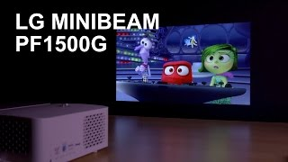 LG Minibeam PF1500G, análisis: un proyector pequeño pero muy capaz