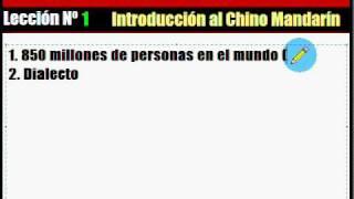 Aprende chino fácil. Introducción al chino mandarín.