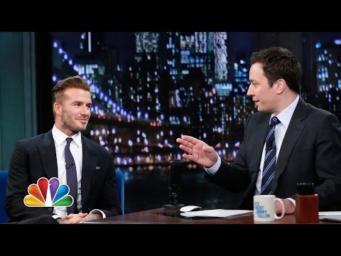 David Beckham Flashes Some Underwear (Late Night with Jimmy Fallon)