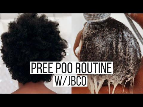 How to Pre Poo 4b/4c Natural Hair using Black Castor Oil