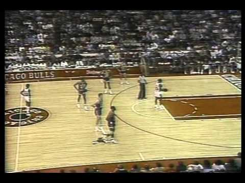 Assistant Coach Jerry Sloan Technical Foul on Cheap Foul 1986 vs Bulls