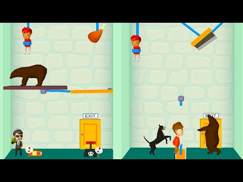 Rescue Cut - Rope Puzzle - New Characters and Levels | Android, iOS Gameplay