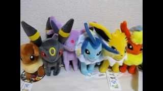 Japan Pokemon Center Eevee Jolteon Flareon Espeon Umbreon