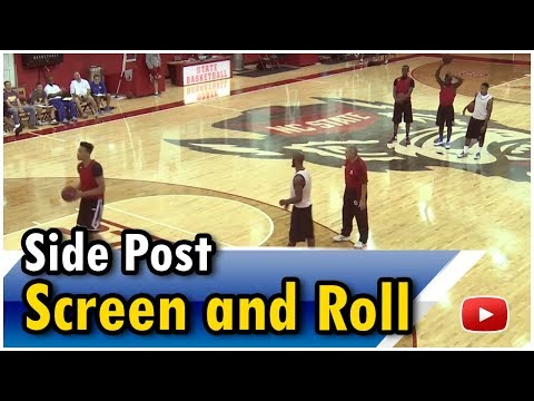 Basketball Coaches Clinic - High Post Offense-Side Post Screen and Roll featuring Coach Jim Harrick